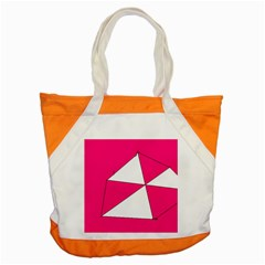 Pink White Art Kids 7000 Accent Tote Bag