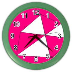 Pink White Art Kids 7000 Wall Clock (color)