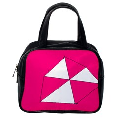 Pink White Art Kids 7000 Classic Handbag (one Side) by yoursparklingshop