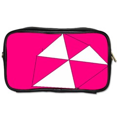 Pink White Art Kids 7000 Travel Toiletry Bag (two Sides)
