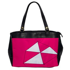 Pink White Art Kids 7000 Oversize Office Handbag (one Side)