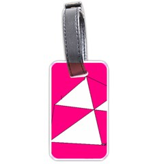Pink White Art Kids 7000 Luggage Tag (one Side)