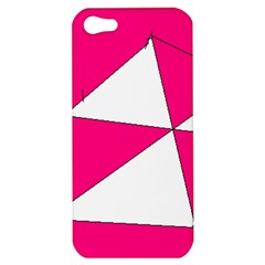Pink White Art Kids 7000 Apple Iphone 5 Hardshell Case