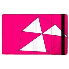 Pink White Art Kids 7000 Apple Ipad 2 Flip Case by yoursparklingshop