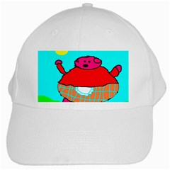 Sweet Pig Knoremans, Art By Kids White Baseball Cap