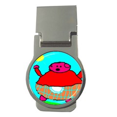 Sweet Pig Knoremans, Art by Kids Money Clip (Round) by yoursparklingshop