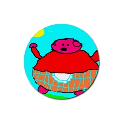 Sweet Pig Knoremans, Art By Kids Drink Coasters 4 Pack (round)