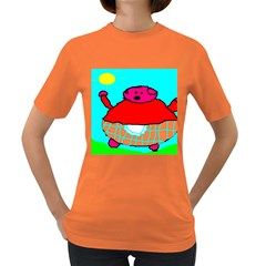 Sweet Pig Knoremans, Art By Kids Women s T Shirt (colored)
