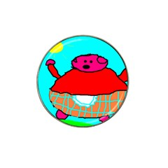 Sweet Pig Knoremans, Art By Kids Golf Ball Marker (for Hat Clip) by yoursparklingshop