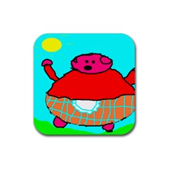 Sweet Pig Knoremans, Art By Kids Drink Coaster (square) by yoursparklingshop