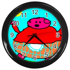 Sweet Pig Knoremans, Art By Kids Wall Clock (black) by yoursparklingshop
