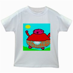 Sweet Pig Knoremans, Art By Kids Kids T Shirt (white)