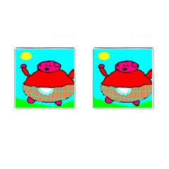 Sweet Pig Knoremans, Art By Kids Cufflinks (square)