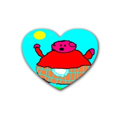 Sweet Pig Knoremans, Art By Kids Drink Coasters 4 Pack (heart)  by yoursparklingshop