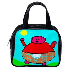 Sweet Pig Knoremans, Art By Kids Classic Handbag (one Side) by yoursparklingshop