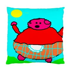 Sweet Pig Knoremans, Art By Kids Cushion Case (two Sided)  by yoursparklingshop