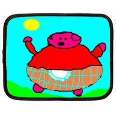 Sweet Pig Knoremans, Art By Kids Netbook Sleeve (xxl)