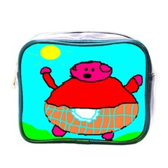 Sweet Pig Knoremans, Art By Kids Mini Travel Toiletry Bag (one Side) by yoursparklingshop