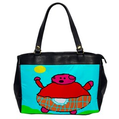 Sweet Pig Knoremans, Art By Kids Oversize Office Handbag (one Side) by yoursparklingshop