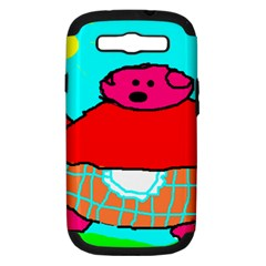 Sweet Pig Knoremans, Art By Kids Samsung Galaxy S Iii Hardshell Case (pc+silicone) by yoursparklingshop