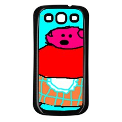 Sweet Pig Knoremans, Art By Kids Samsung Galaxy S3 Back Case (black) by yoursparklingshop