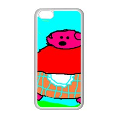 Sweet Pig Knoremans, Art By Kids Apple Iphone 5c Seamless Case (white) by yoursparklingshop