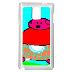 Sweet Pig Knoremans, Art By Kids Samsung Galaxy Note 4 Case (white) by yoursparklingshop