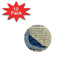 Bird 1  Mini Button Magnet (10 Pack) by boho