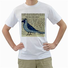 Bird Men s T Shirt (white)  by boho