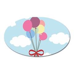 Balloons Magnet (oval) by Kathrinlegg