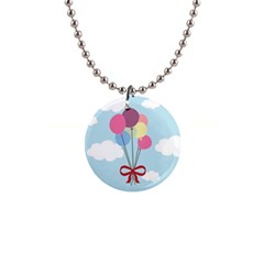 Balloons Button Necklace by Kathrinlegg