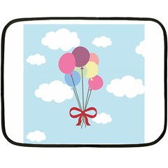 Balloons Mini Fleece Blanket (two Sided) by Kathrinlegg