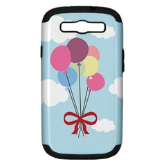 Balloons Samsung Galaxy S Iii Hardshell Case (pc+silicone) by Kathrinlegg