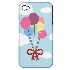 Balloons Apple Iphone 4/4s Hardshell Case (pc+silicone) by Kathrinlegg