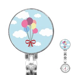 Balloons Stainless Steel Nurses Watch by Kathrinlegg
