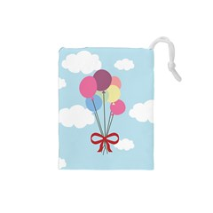Balloons Drawstring Pouch (small)