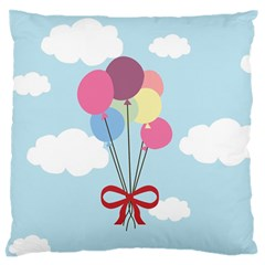 Balloons Large Flano Cushion Case (two Sides) by Kathrinlegg