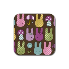 Bunny  Drink Coaster (Square) by Kathrinlegg