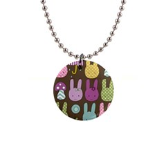 Bunny  Button Necklace by Kathrinlegg