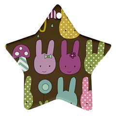 Bunny  Star Ornament (two Sides) by Kathrinlegg