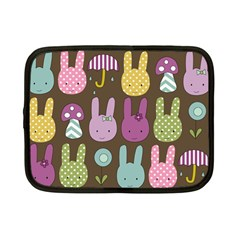 Bunny  Netbook Sleeve (small) by Kathrinlegg