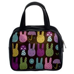 Bunny  Classic Handbag (two Sides) by Kathrinlegg