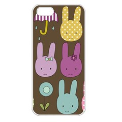 Bunny  Apple Iphone 5 Seamless Case (white) by Kathrinlegg