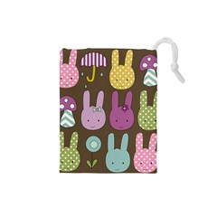 Bunny  Drawstring Pouch (small) by Kathrinlegg