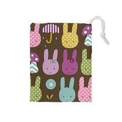 Bunny  Drawstring Pouch (medium) by Kathrinlegg