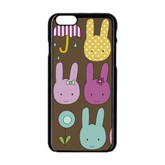 Bunny  Apple Iphone 6 Black Enamel Case by Kathrinlegg