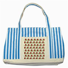 Mushrooms Blue Striped Tote Bag by Kathrinlegg