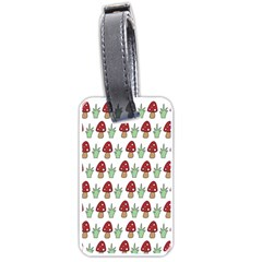 Mushrooms Luggage Tag (One Side) by Kathrinlegg