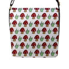 Mushrooms Flap Closure Messenger Bag (large) by Kathrinlegg