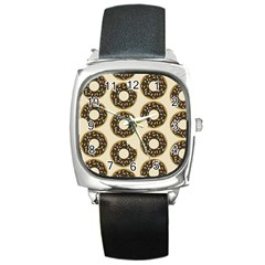 Donuts Square Leather Watch by Kathrinlegg